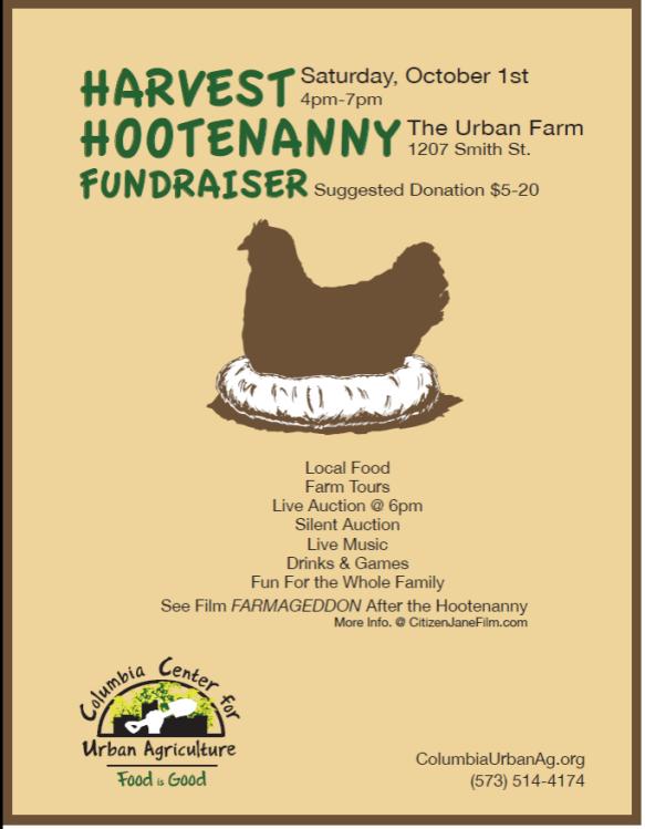 CCUA Harvest Hootenanny poster