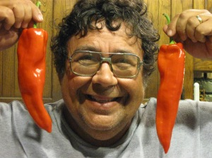 Steve with peppers