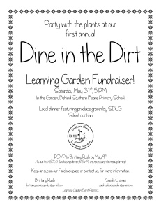 Dine in the Dirt flyer