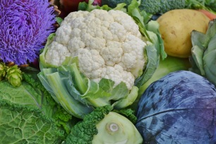 photo of cauliflower and cabbages