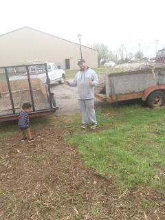volunteers at the Friendship Garden site
