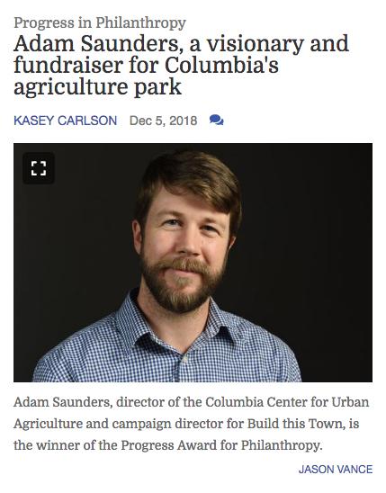 Missourian Progress Award winner Adam Saunders article