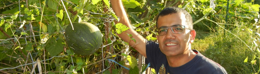 Hari Poudel in the Ash St. garden