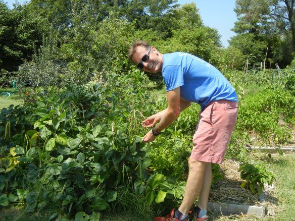 a gardener at Unite4Health garden